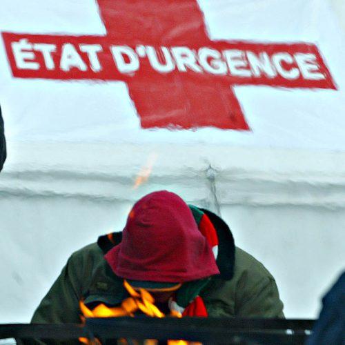 etat d'urgence Le Carré Berri, les sans abris ont 4 jours de repis