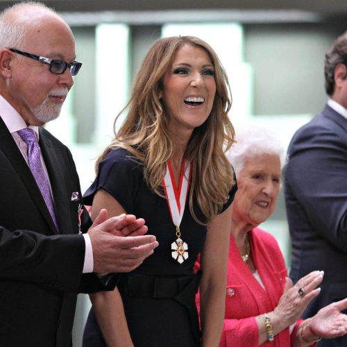 Céline Dion et René Angélil et maman Dion