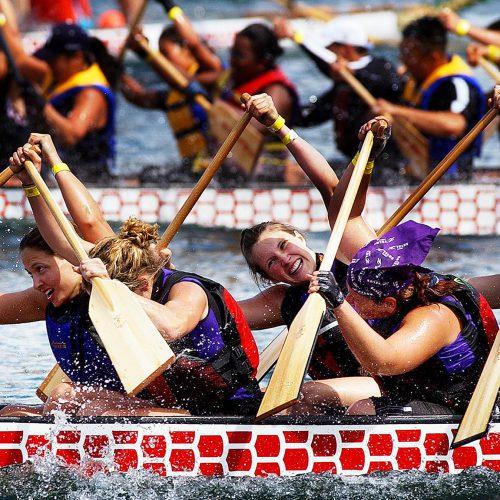 Bateau Dragon au bassin olympique