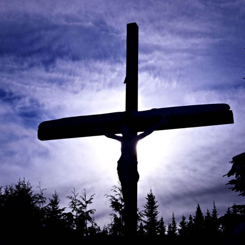 une représentation je Jesus sur la croix