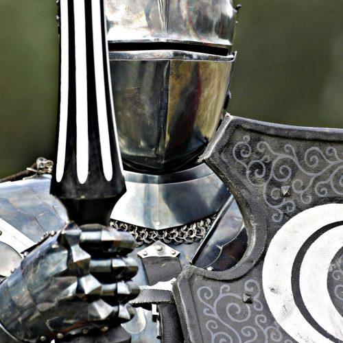 Festival médiéval chevaliers gros plan