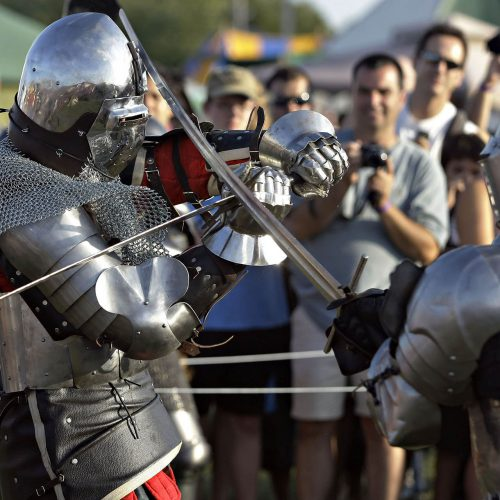 Festival médiéval chevaliers