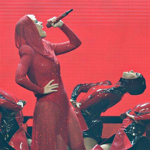 Katy Perry en spectacle au centre videotron la tournée rouge