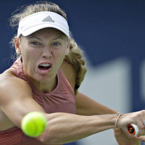 caroline wozniacki au tournoi de tennis de la coupe rogers