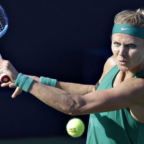 lucie safarova au tournoi de tennis de la coupe rogers