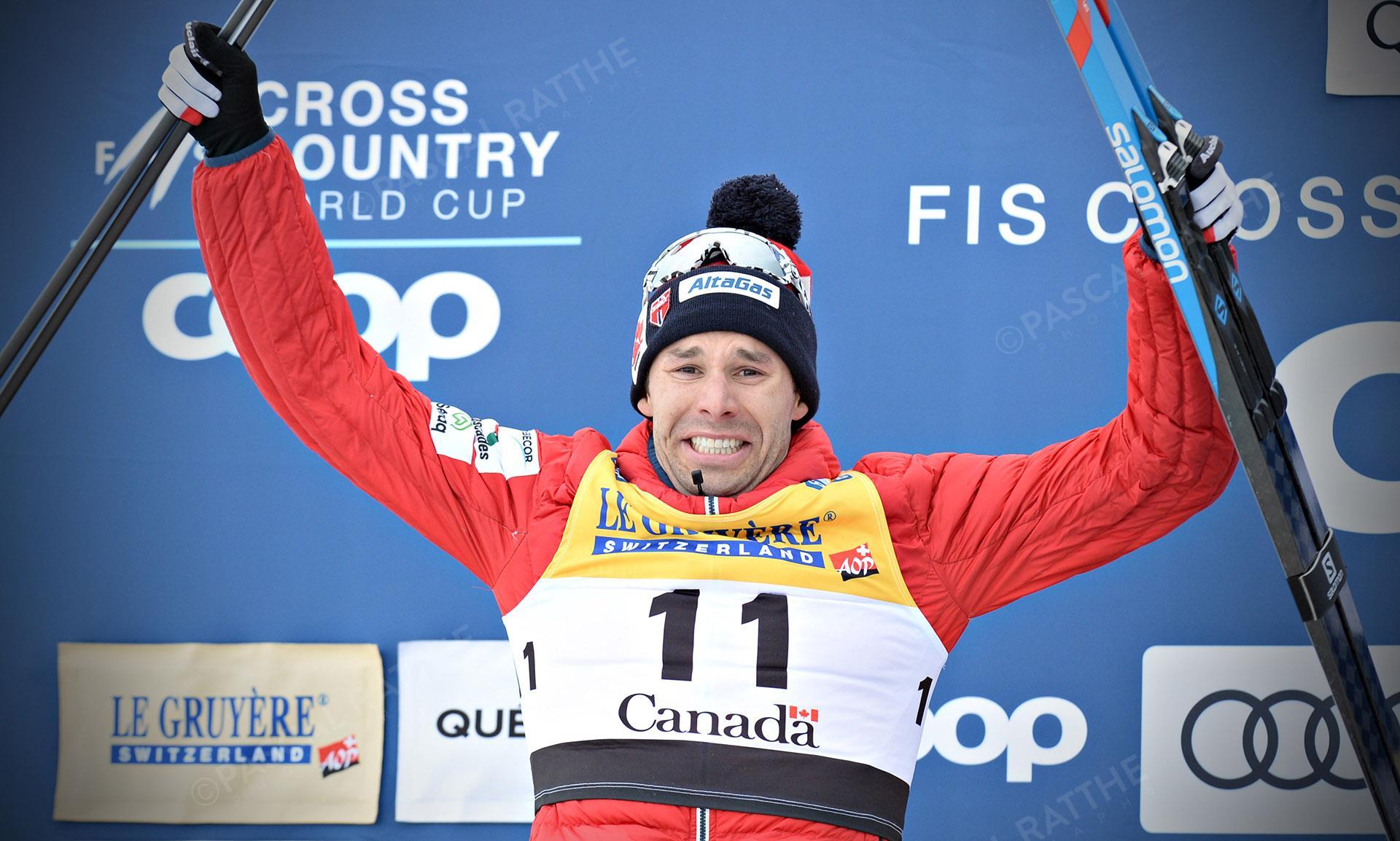 La finale de ski de fond à Québec, Alex Harvey termine en 2e position au style classique départ de masse