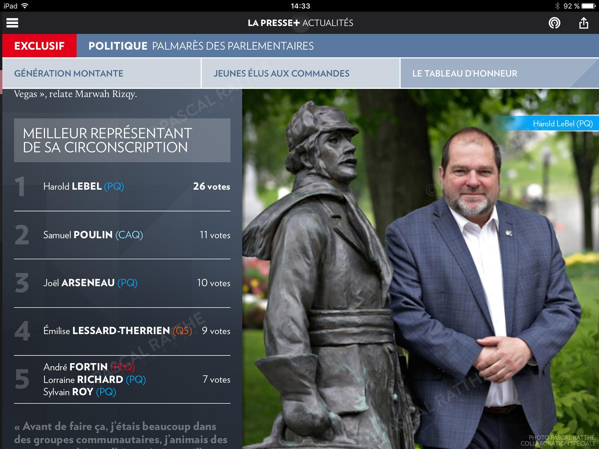 les etoiles de l'assemblee nationale Portrait Pascal Berube PQ