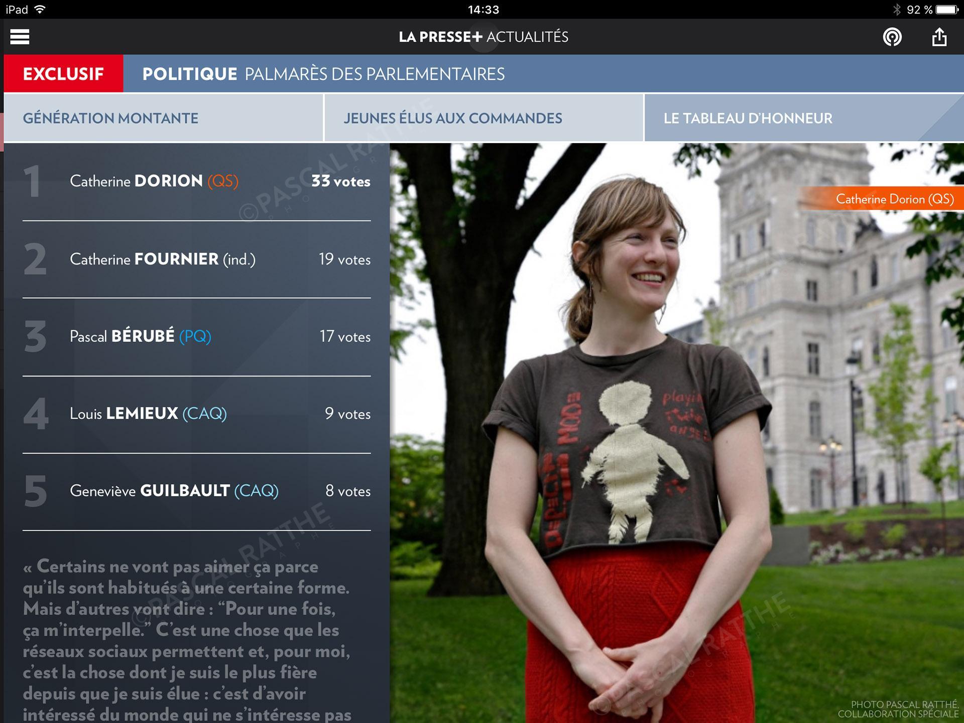 les etoiles de l'assemblee nationale Portrait Catherine Dorion QS
