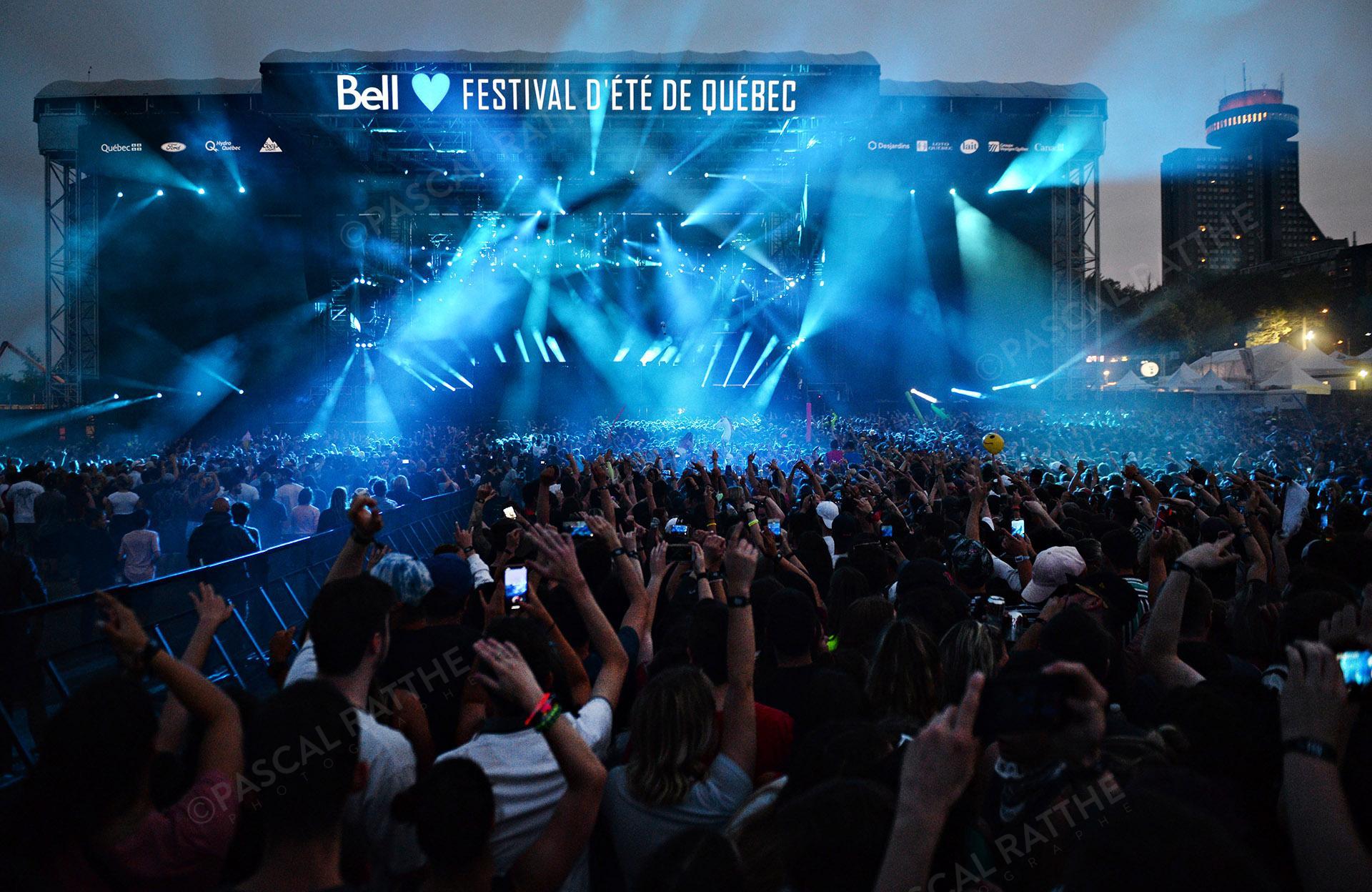 la foule durant le festival d'été 2019 à Québec