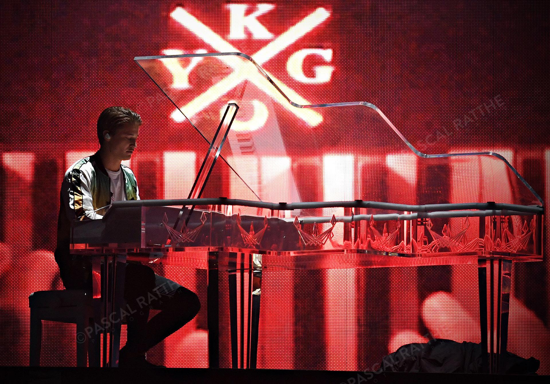 spectacle de Kygo durant le festival d'été 2019 sur la scène Bellles plaines