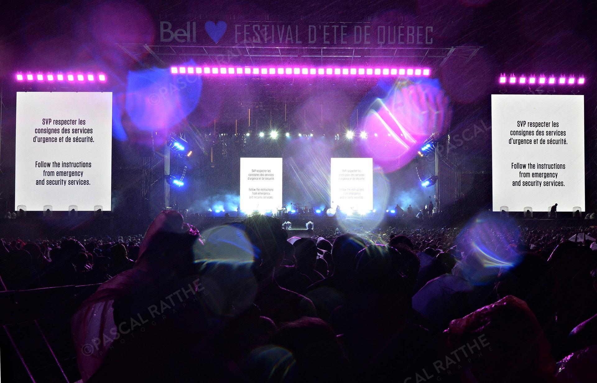 spectacle de BISHOP BRIGGS durant les festival d'été de Québec à la scéne Bell