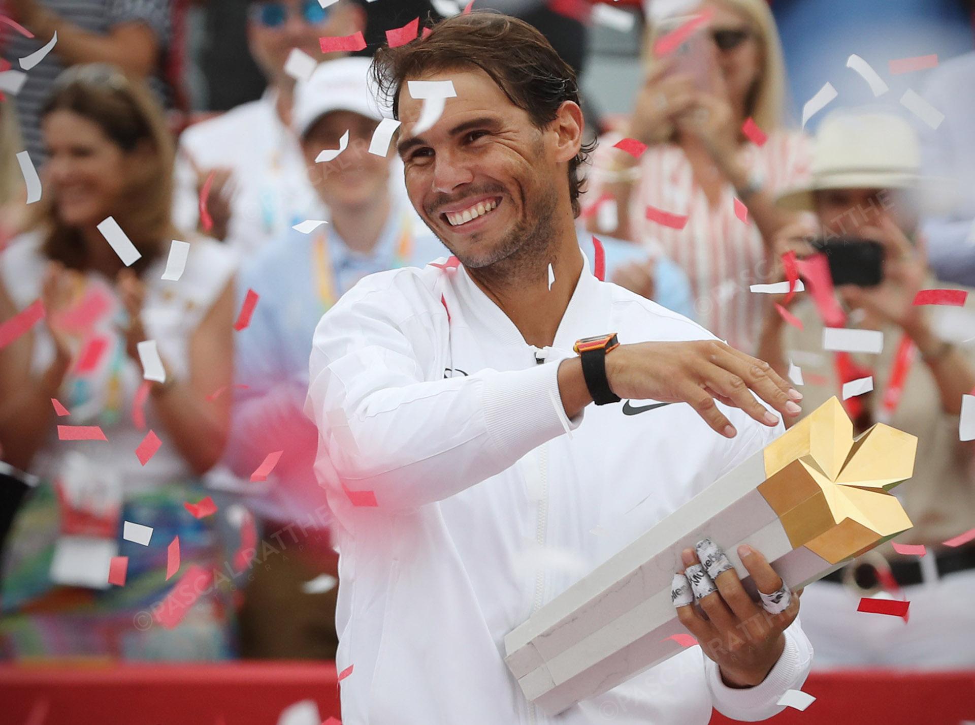 célébration de Rafael Nadal est un joueur de tennis espagnol à la coupe rogers 2019